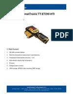 ThermalTronix TT ET2W HTI Datasheet - HANDHELD INSPECTION INSTRUMENTS