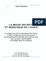 Devère Henri - La Magie Secrète Et Bénéfique de l'Huile