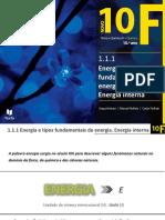 Energia e Tipos Fundamentais de Energia. Energia Interna