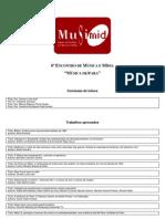 Lista de Trabalhos Aprovados MUSIMID