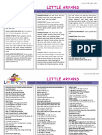 Nursery October Syllabus