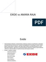 Exide vs Amara Raja Final Ppt