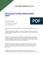Microeconomics 3rd Edition Hubbard Solutions Manual