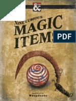 Nine Curious Magic Items