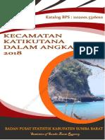 Kecamatan Katikutana Dalam Angka 2018
