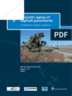 Acoustic Aging of Asphalt Pavements - A Californian Danish Comparison Report 171