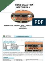 4 UNIDAD  INTEGRADA   3° A (Com-PS-CyA-Art-Rel-Ed Fis.)