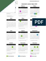 Gijon Calendario Laboral 2018
