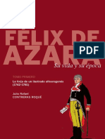Félix de Azara, su vida y su epoca tomo uno