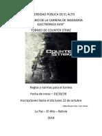 Reglas Campeonato de Counter Strike