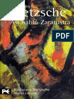 Friedrich W. Nietzsche - Así Habló Zaratustra