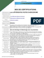 Normes de Certification Pistes Aerodrome