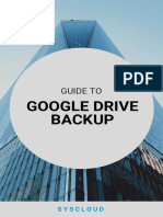 SysCloud's Guide to Google Drive Backup