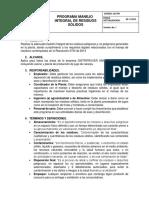 PROGRAMA Manejo Integral de Residuos Sólidos.