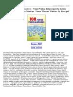 100 Jogos Psicomotores Uma Prática Relacional Na Escola 2