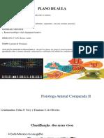 Fisiologia Animal comparada (Sistema nervoso, Sensorial, sentidos e Visão)