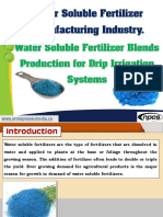 Water Soluble Fertilizer Manufacturing Industry