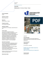 International Graduate Studies in Mechatronics • University of Siegen • Siegen - DAAD - Deutscher Akademischer Austauschdienst