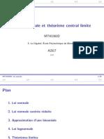 7 Loi Normale Et Théorème Central Limite