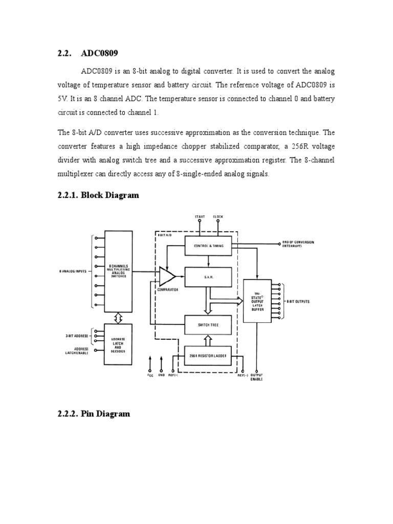 ADC0809.doc   Analog To Digital Converter   Telecommunications EngineeringScribd