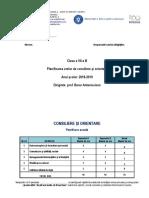 Planificare Dirigenție a VII-A
