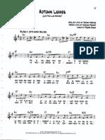 Autumn Leaves - piano sheet 3pgs