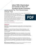 Anticoagulation With Otamixaban and Ischemic Events in Non