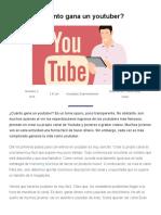 Cuánto Gana Un Youtuber - Economipedia