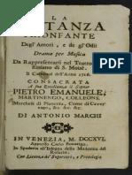 LIBRETO Costanza Trionfante Degl Amori e Degl Odii RV 706 Libretto
