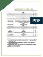Sugestão de Fórmula- Creme Alisante Formol Free