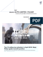 Marketing Reflection Paper - Bajaj Pulsar