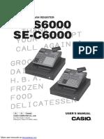 Casio Cash Register SE-C6000