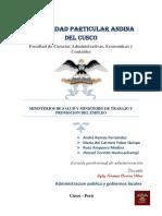 MINSA - MTPE - Administración Pública y G.L. - Grupo 2