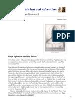 The Feriae of Pope Sylvester I