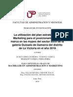 Plan Estrategico de Marketing y Posicionamiento de Marca-yesenia Echevarria-cesia Mamani