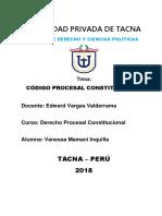 Codigo Procesal Constitucional Vane