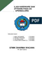 Instalasi Hardware Dan Software Pada Os Opensolaris