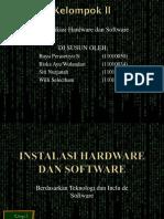 Instalasi Hardware Dan Software