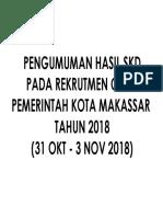 Skd Cpns Pemerintah Kota Makassar