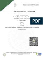 Cuadro Comparativo Características y Velocidades en Medios de Transmisión