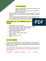 1° EXAMEN DE MINEROLOGIA 2