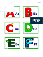 Alphabet Card Small
