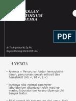 Pemeriksaan Laboratorium Pada Anemia Revisi 2 2017