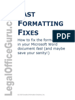 Fast Formatting Fixes