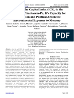 Adjusting the Capital Index (ICS), to the Population of Santarém-Pa, It's Capacity for Mobilization and Political Action the Environmental Exposure to Mercury