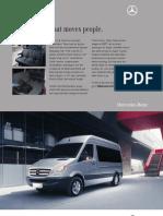 MB Sprinter Passenger Van Data Sheet