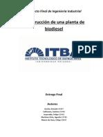 Construcción de Una Planta de Biodiesel