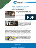 FAQS SEPTEMBRE - OCTOBRE 2018 - MACHINES D'OCCASION EN ACIER INOXYDABLE