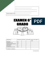 examen 1er trimestre 6°