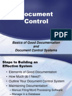 Basics of Good Document Control Systems